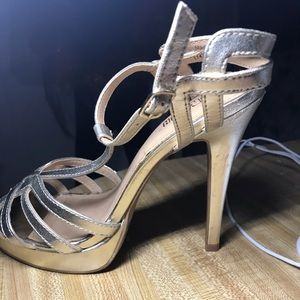Heels gold size 7